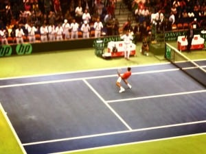 Davis Cup Day-1: Novak Djokovic wins easily in three sets over John Isner