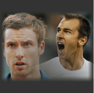 Ernests Gulbis of Latvia and Lukas Rosol of Czech Republic