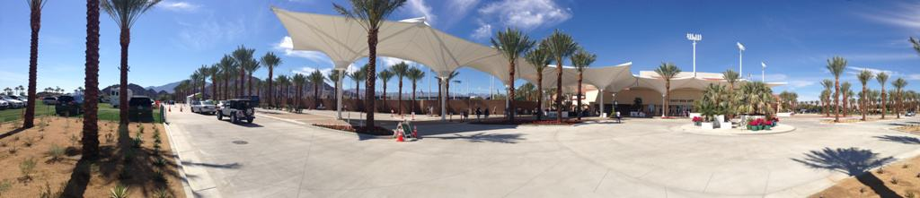 The new Indian Wells East Entrance...with valet parking next to Stadium 2