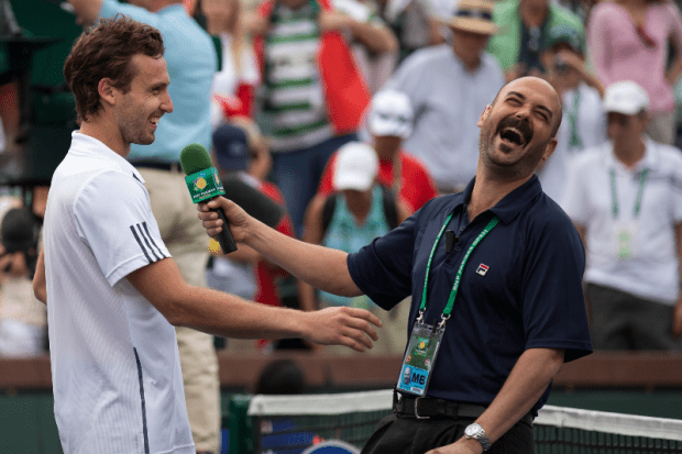 IW - Gulbis Laughing