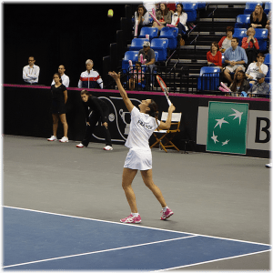 Virginie Razzano. Winner in the deciding doubles.